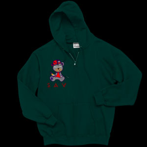 Youth Sav Bear_green_Zip Thumbnail